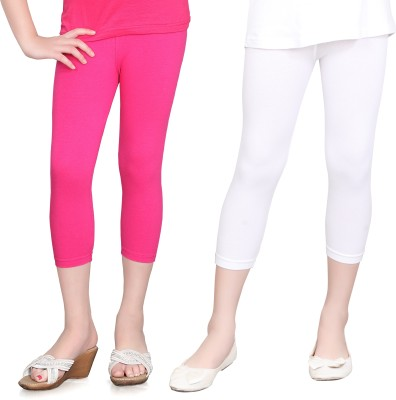 Sini Mini Girls Pink, White Capri