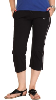 Colors & Blends Cl-102 Black Women's Black Capri at flipkart