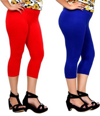 By The Way Fashion Women,s Red, Blue Capri