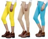 IndiWeaves Women's Yellow, Beige, Blue C...