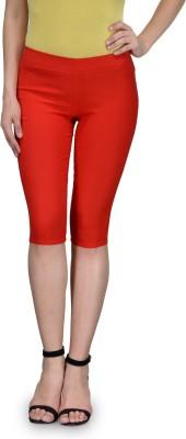 Being Fab Trendy Women's Red Capri