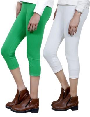 IndiStar Women's Green, White Capri