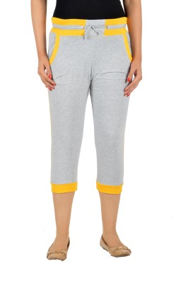 Mijaaz Fashion Women's Grey Capri