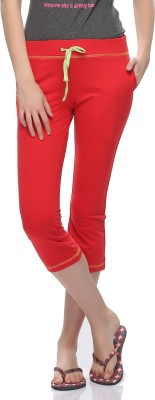 Clovia Women's Red Capri