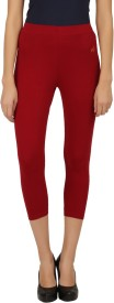 New Darling Women's Maroon Capri