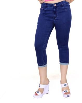 FCK-3 Fashion Women's Blue Capri
