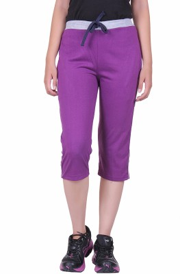 DFH Women's Purple Capri