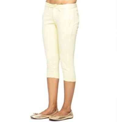 American Swan Women's Yellow Capri