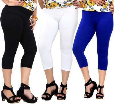 By The Way Fashion Women,s Black, White, Blue Capri