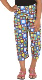 Blue Girls Capri For Girls Geometric Pri...