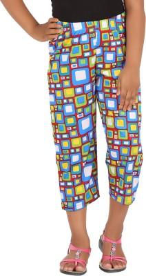 Blue girls Girl's Multicolor Capri
