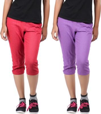 Hbhwear Women's Purple Capri