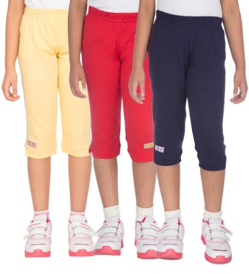 Ocean Race stylish Girl's Yellow, Red, Dark Blue Capri