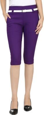 Adhaans Ad Women's Purple Capri
