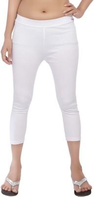 Comix Fashion Women's White Capri