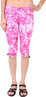 Fashion Cult Feminine Women's Pink Capri