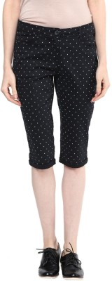 Honey By Pantaloons Women's Black Capri at flipkart