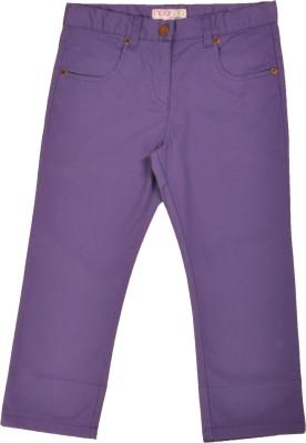 NOQNOQ Girl's Purple Capri