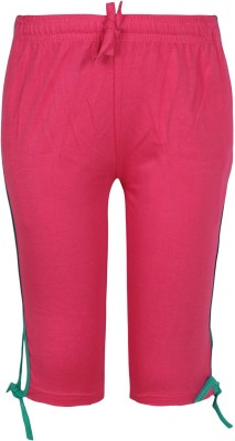 Jazzup Girl's Pink Capri