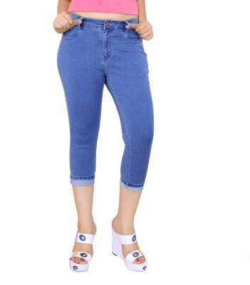 FCK-3 Fashion Women's Light Blue Capri