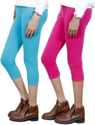IndiStar Women's Blue, Pink Capri