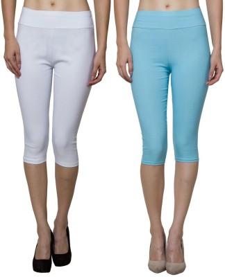 Both11 Women's Blue, White Capri