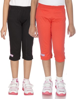 Ocean Race Fashion Girl's Black, Orange Capri