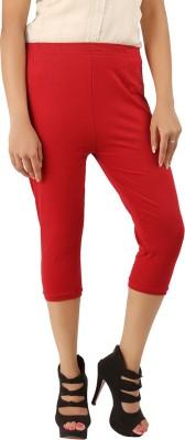 CURVIVA Women's Red Capri