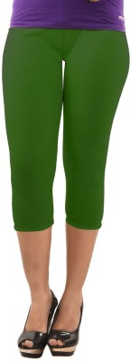 Dollar Missy Fasion Women's Green Capri