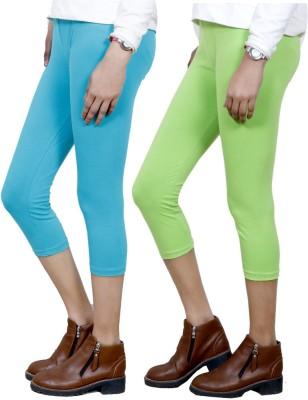 IndiStar Women's Blue, Green Capri