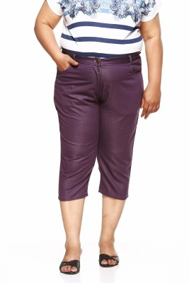 PlusS Women's Purple Capri