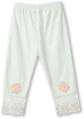 Icable Girl's White Capri