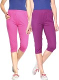 Minnow Capri For Girls Solid Cotton (Mul...