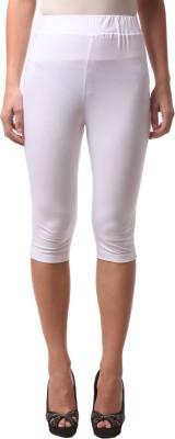 FashionExpo Women's White Capri