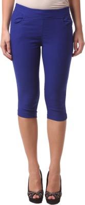 FashionExpo Women's Blue Capri