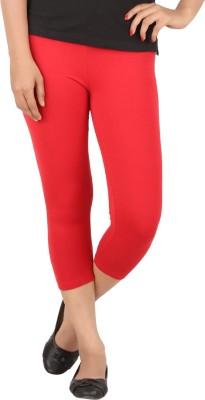 TECOT Women's Red Capri
