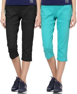 Softwear Rickshaw Women's Light Green, Black Capri
