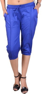Goodgift Women's Blue Capri