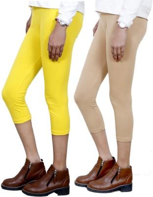IndiStar Women's Yellow, Beige Capri