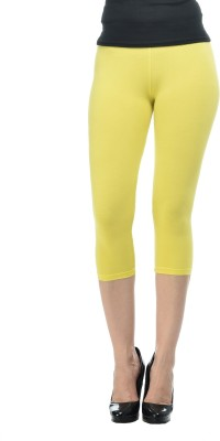 Frenchtrendz Fashion Women,s Yellow Capri