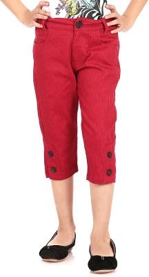Posh Kids Girl's Red Capri