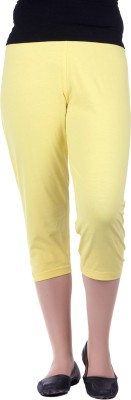 Kally Fashion Women's Yellow Capri