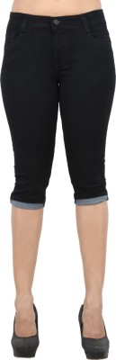 Ebony Women's Black Capri