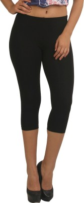 Frenchtrendz Women,s Black Capri