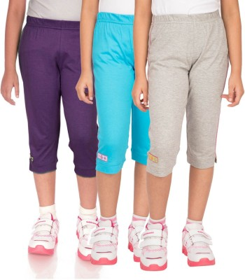 Ocean Race stylish Girl's Purple, Grey, Blue Capri