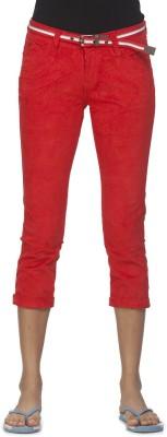 Ixia Women's Red Capri