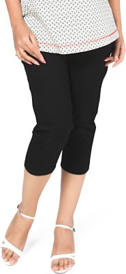 Nine Maternity Wear Capri Women's Black Capri at flipkart
