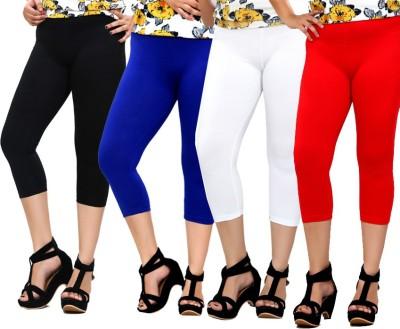 By The Way Fashion Women,s Black, Blue, White, Red Capri