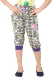 Red Ring Capri For Girls Printed Cotton ...