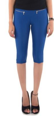Vostro Moda Women's Blue Capri